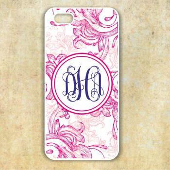 Monogrammed damask Iphone5 case - Personalized Hard Cases for iphones