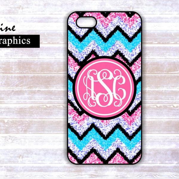 Personalized iPhone Custom Case - Monogrammed Iphone 4S case- Samsung Galaxy S3/S4 case